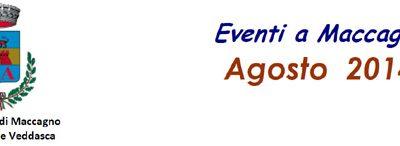 eventi in programma  a Maccagno nel mese di agosto